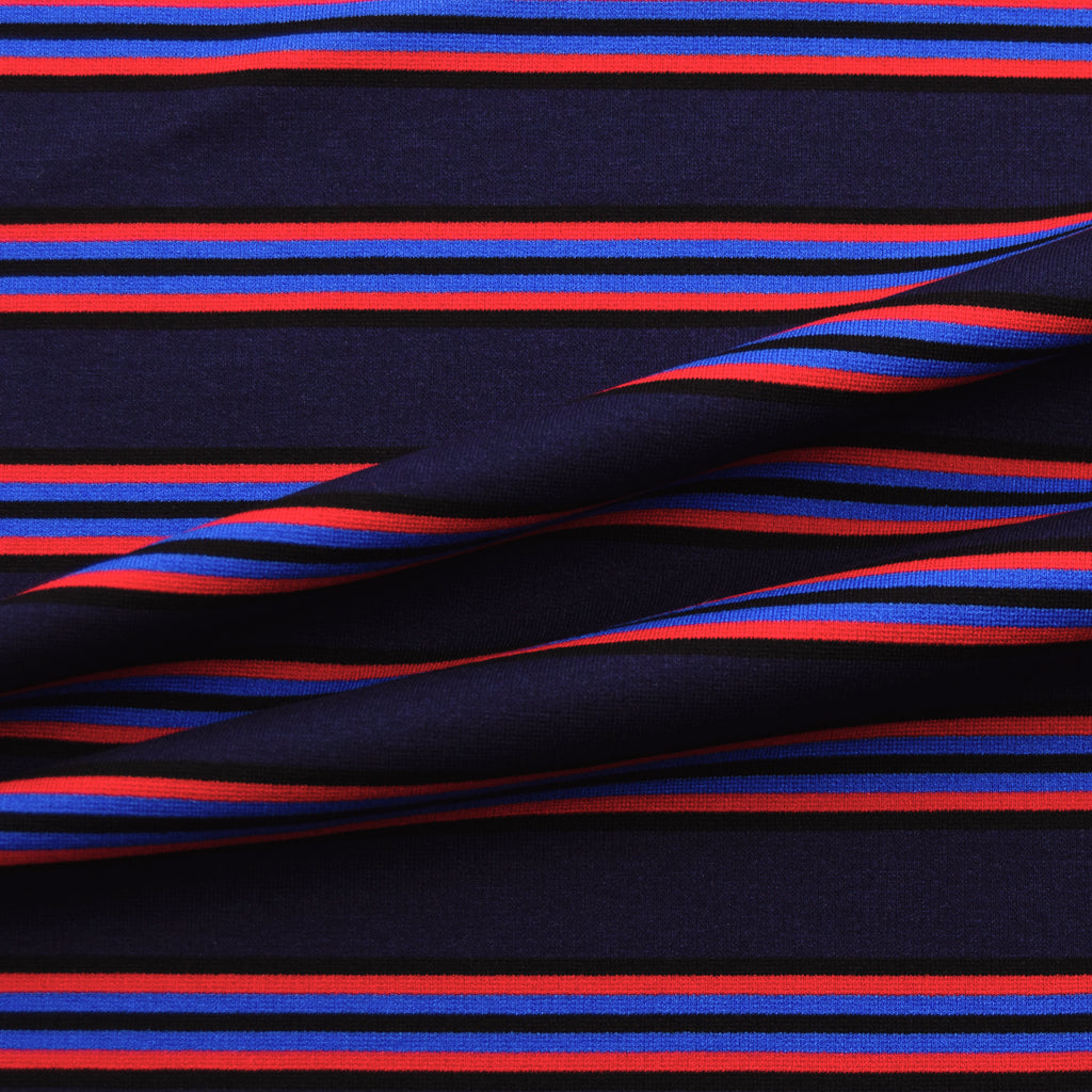 Safe Blue Stripe Viscose Jersey