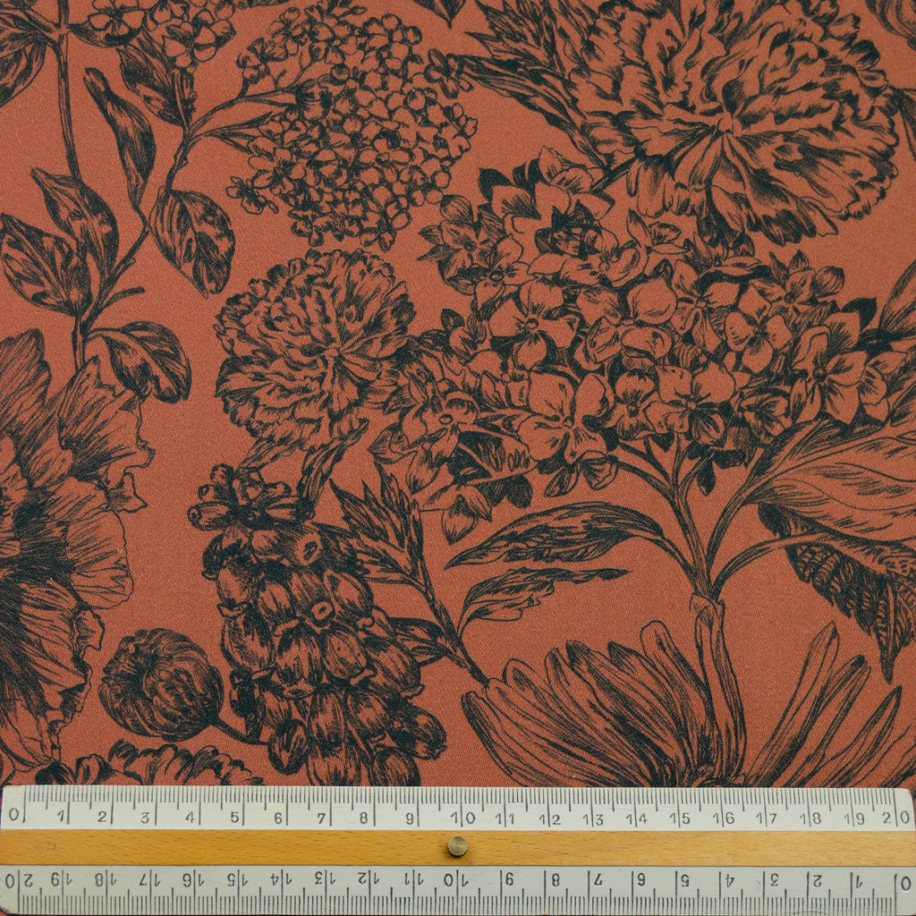 Jaidran Floral Print Stretch Cotton