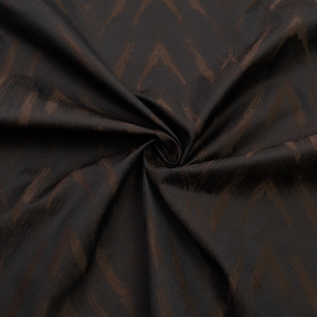 Jamuna Brown & Black Nylon Jacquard