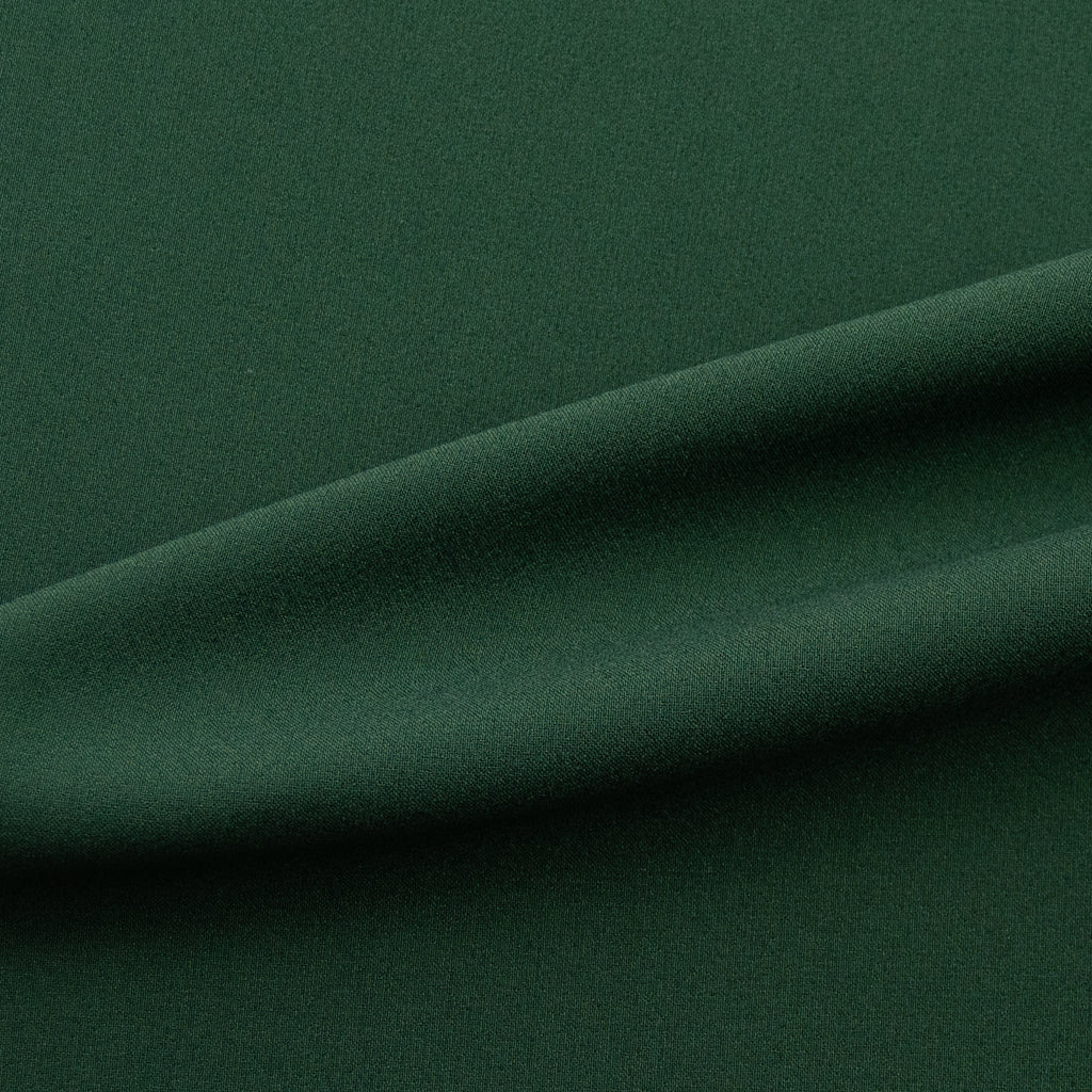 Jake Dark Green Stretch Polyester Crepe