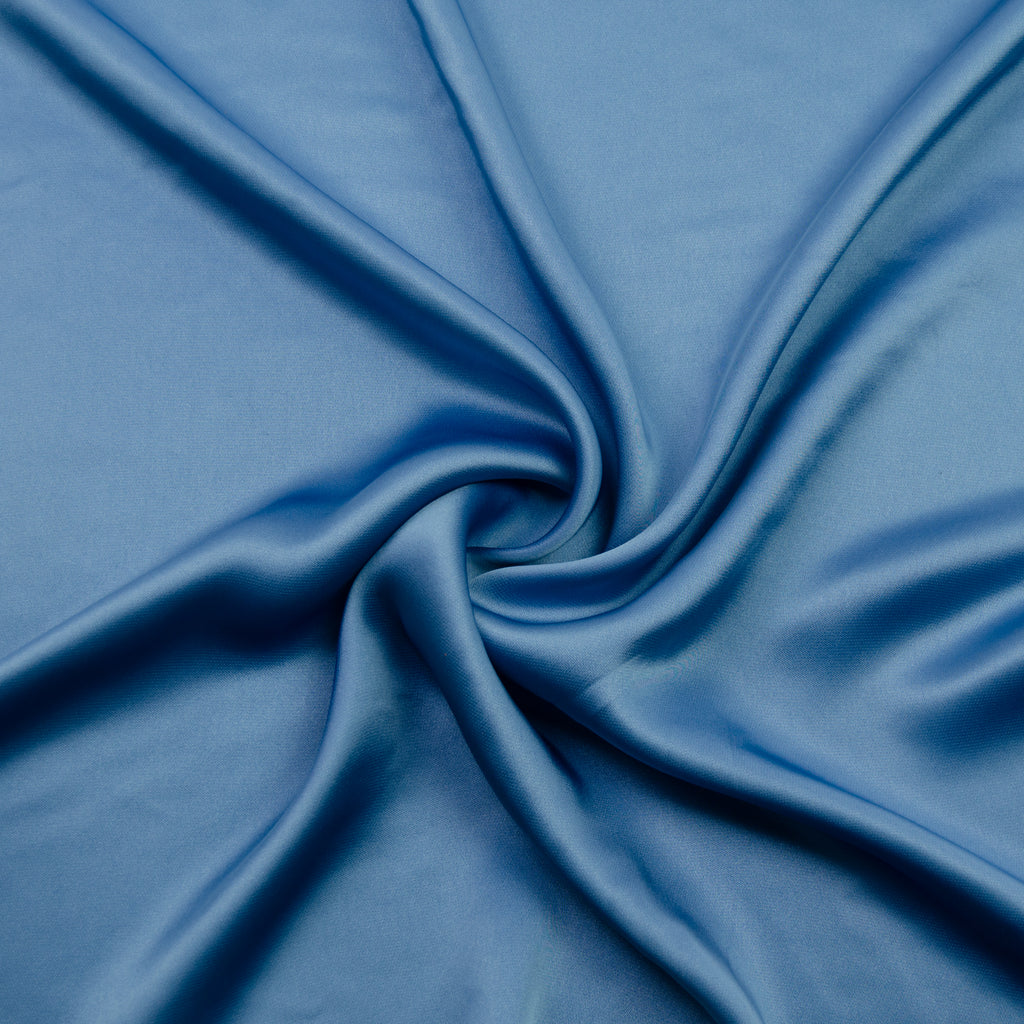 Janny Blue Viscose Satin
