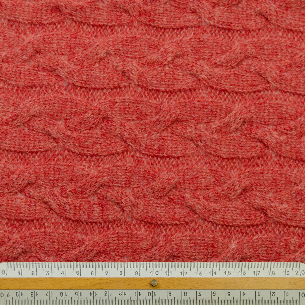 Tocho Raspberry Pink Knitted Wool