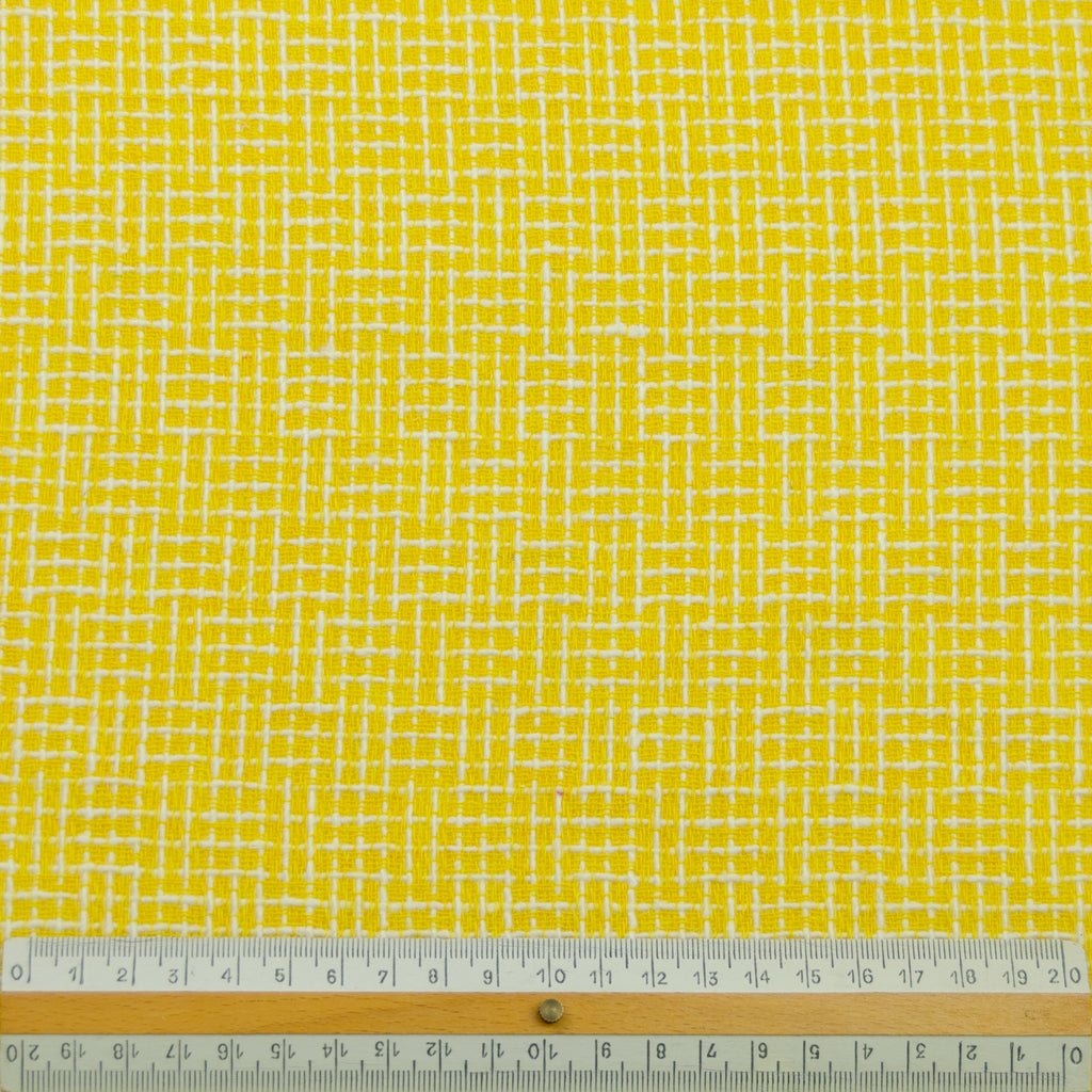 Taru Canary Yellow Check Cotton