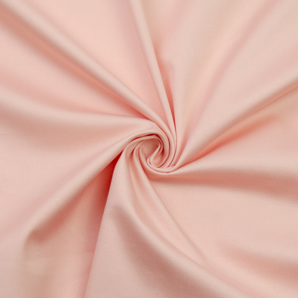 Emma Powdered Pink Stretch Cotton Sateen