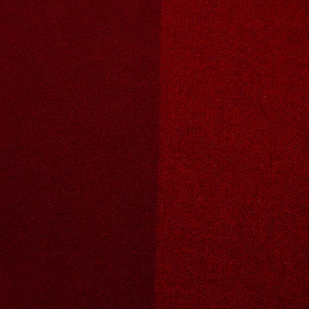 Clara Burgundy Purple Double-sided Virgin Wool