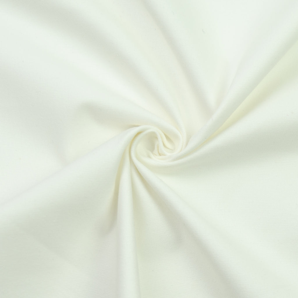 Selene White Cotton Velvet