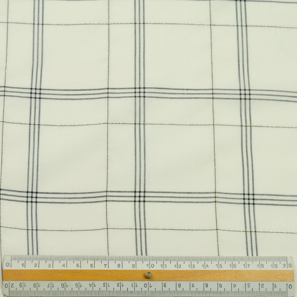 Louis Off-White Black Tartan Cotton