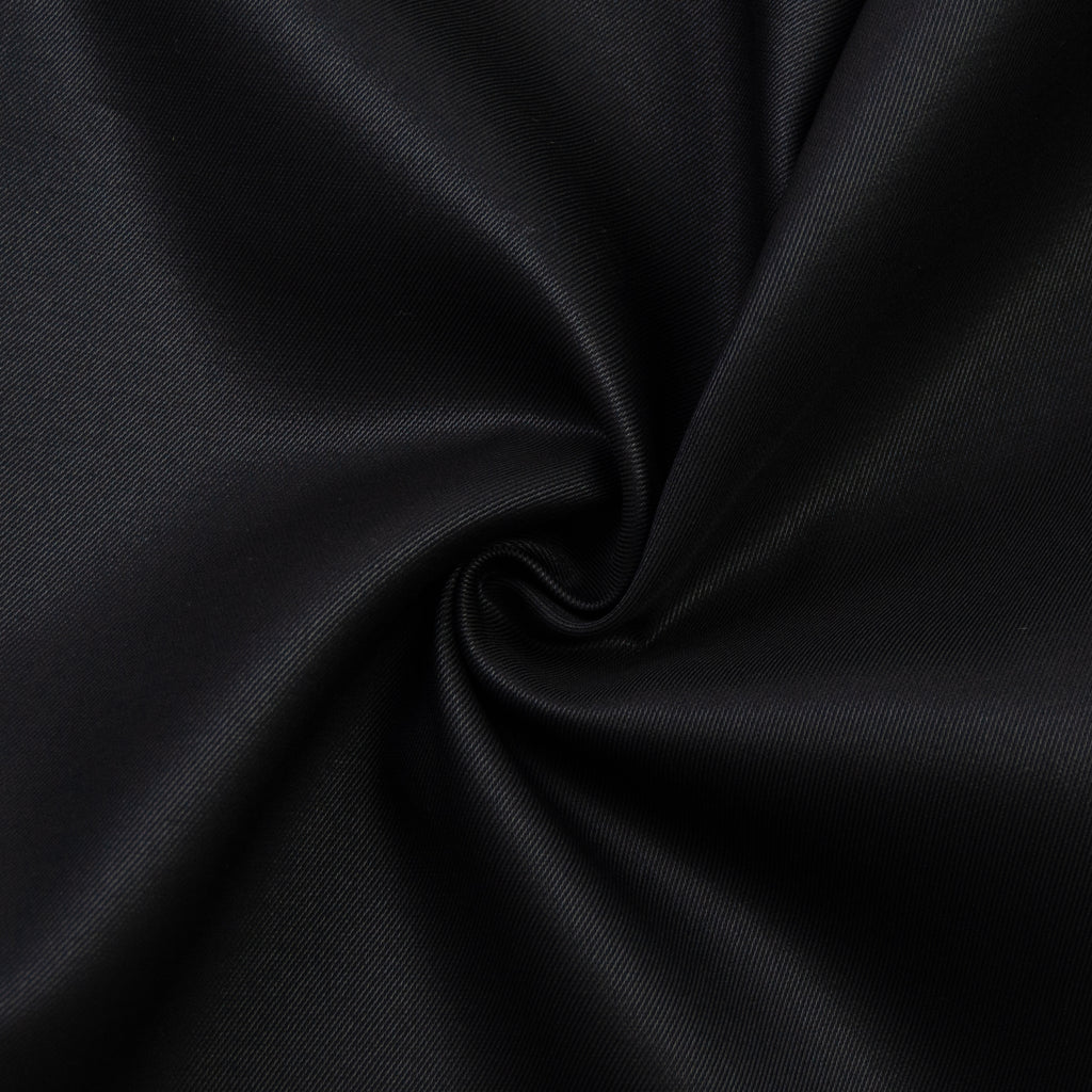 Tremain Black Twill Wool