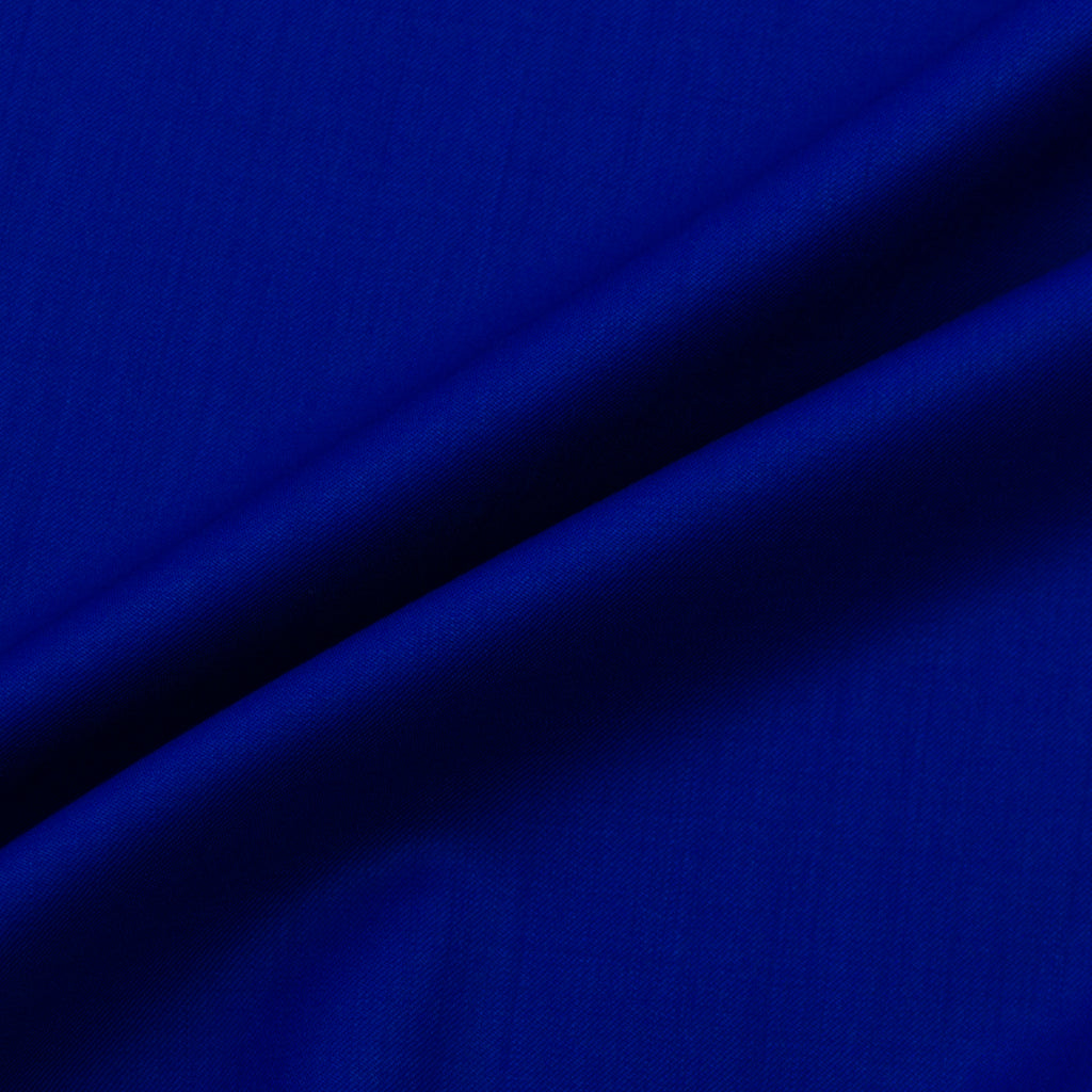 Ximena Electric Blue Merino Wool Twill