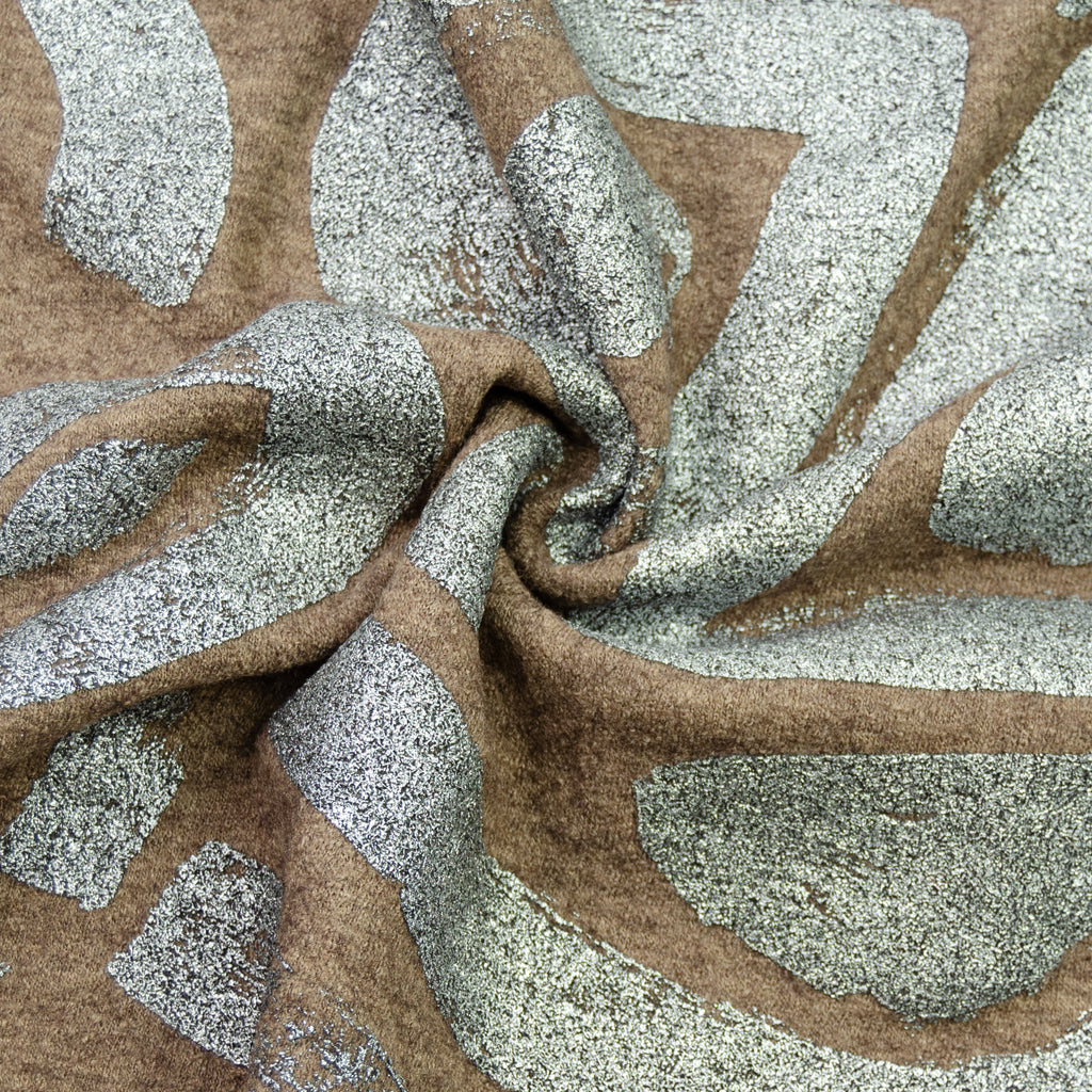 Tuana Brown & Silver Painted Wool