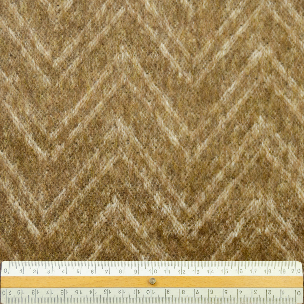 Tovah Brown Chevron Furry Wool