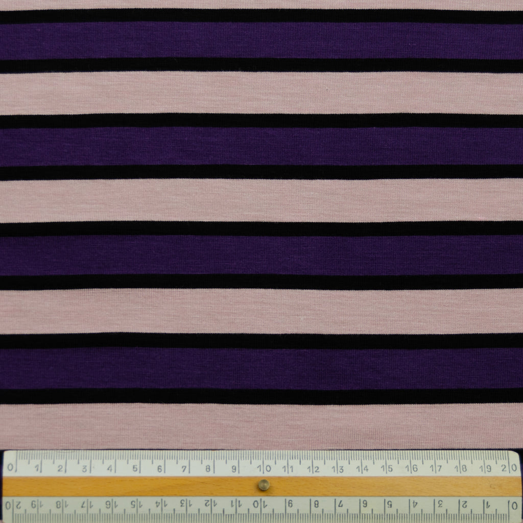 Tom Purple Pink Striped Viscose Jersey