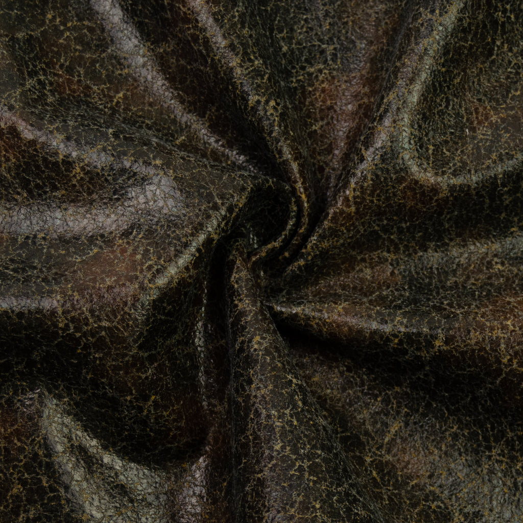 Tamira Grey Faux Aged Leather Wool
