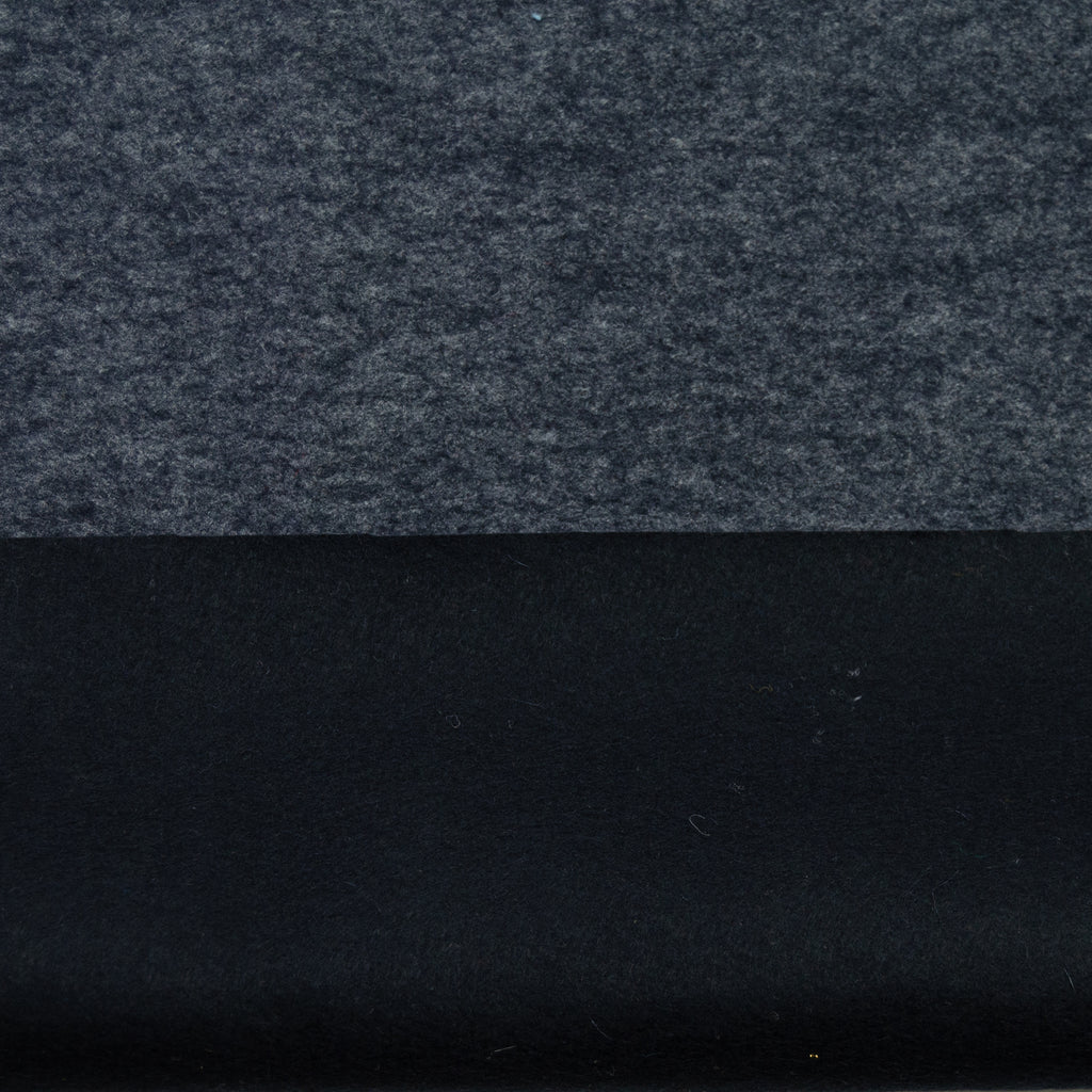 Tenen Dark Grey & Black Wool Felt