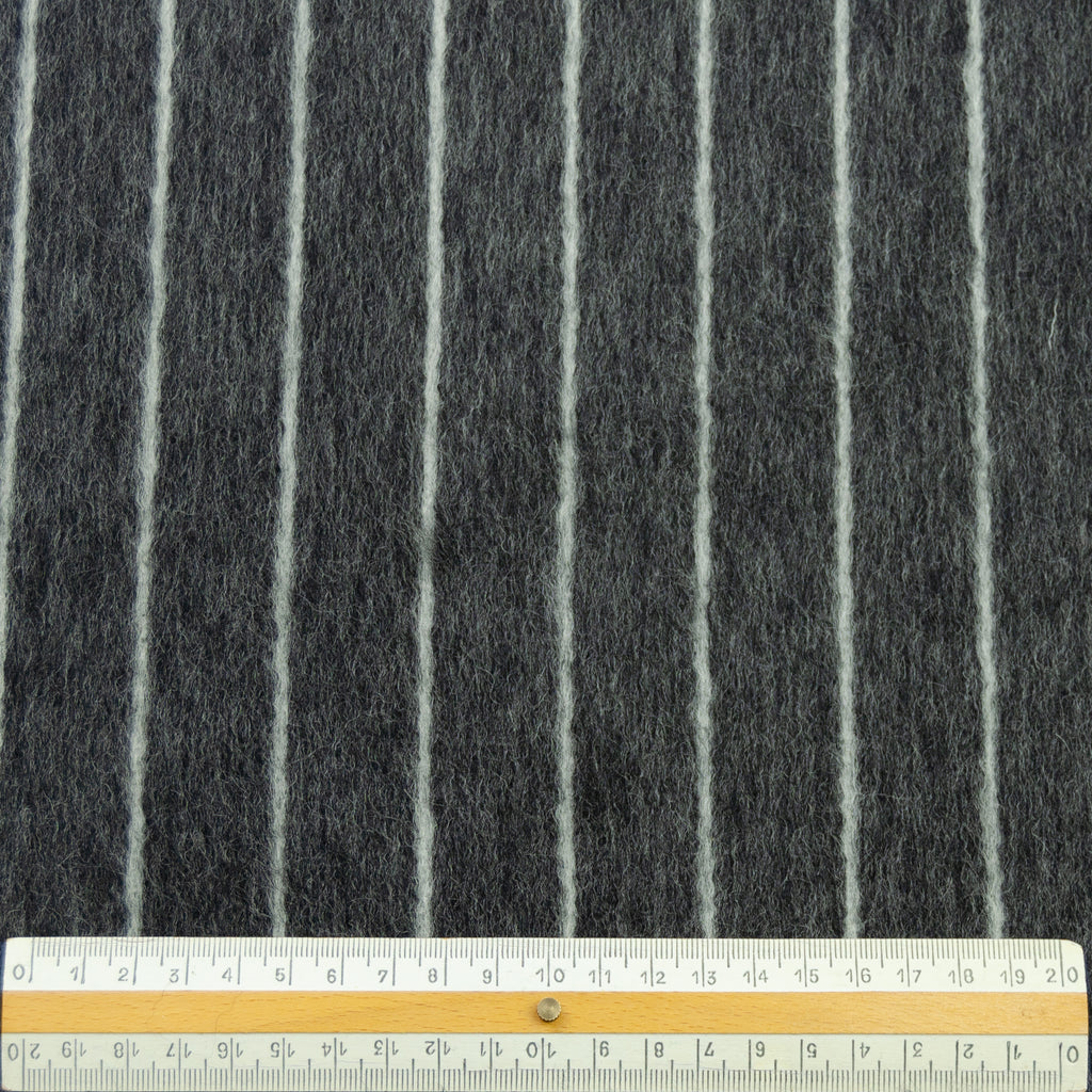 Teretha Grey Striped Wool
