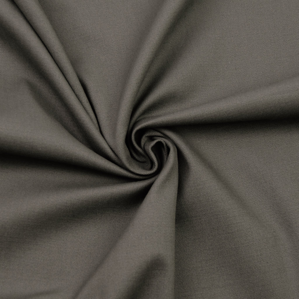 Tai Green Stretch Cotton Gabardine