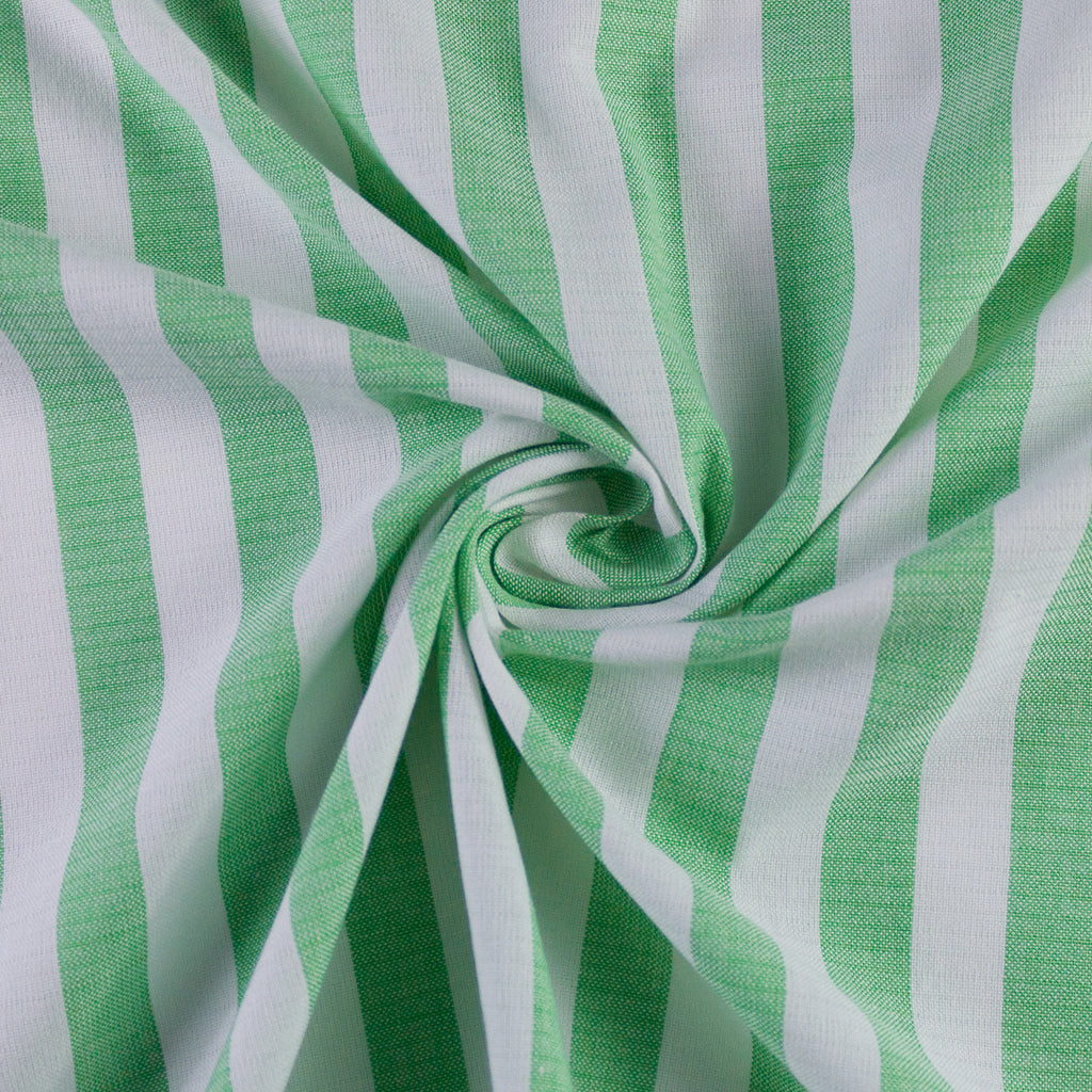 Gabin Green & White Striped Cotton
