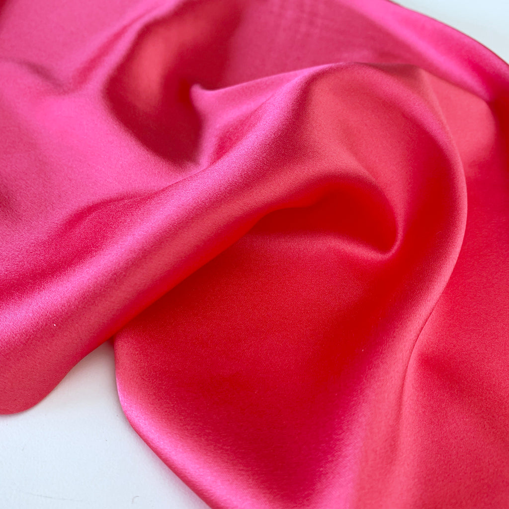 Luise Cherry Silk Satin