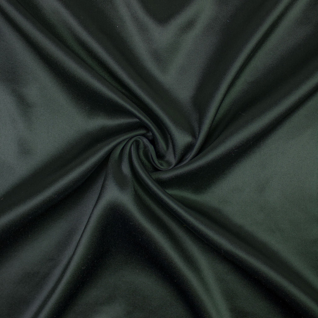 Mucha Deep Green Silk Satin Stretch