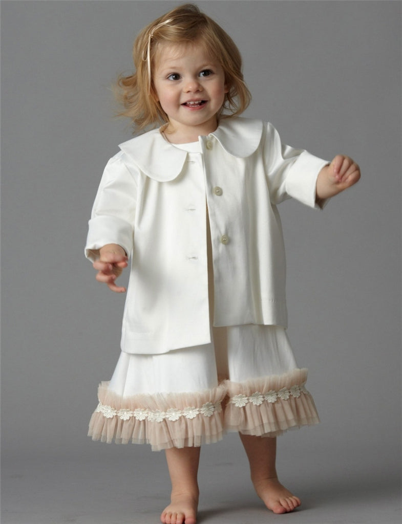 Baby Pram Coat - Ivory and Shell Colours
