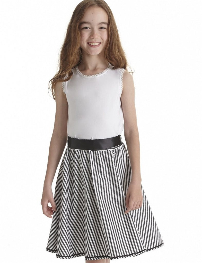 Black & White Stripe Skirt. sizes 2,4 and 14 left