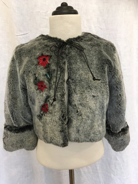 Mia Faux Fur Jacket - size 4 left