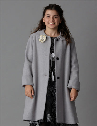 Elodie Classic Aline Coat - Charcoal Only - One size 4 left