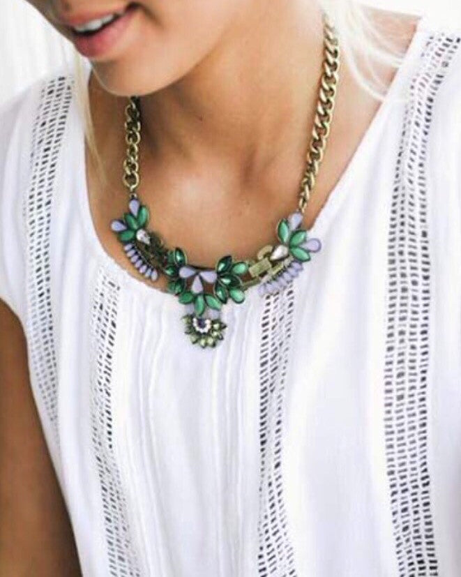 Emerald Statement Necklce