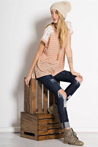 Striped Crochet Tunic