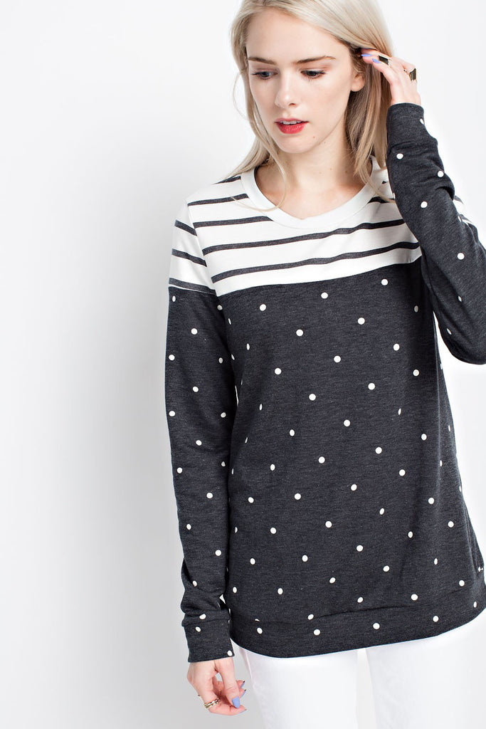 Stripes + Polka Dots Sweater