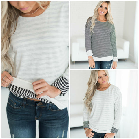 Reversible Stripe Top