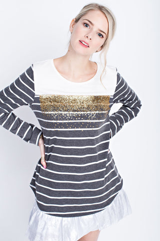 Sparkles + Stripes Sweater