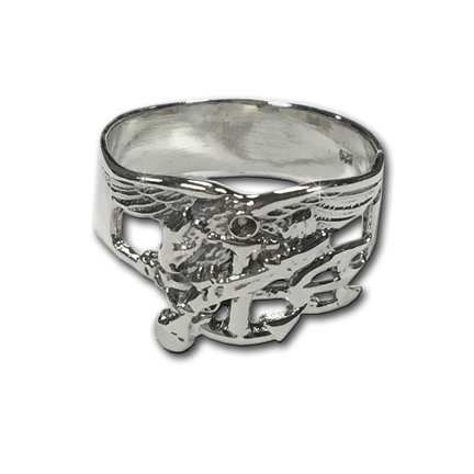 Sterling Silver Men's Trident Ring - UDT-SEAL Store  - 1