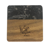 Bonefrog Marble and Wood Coaster Set