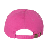 Ladies Raspberry Cap with Trident