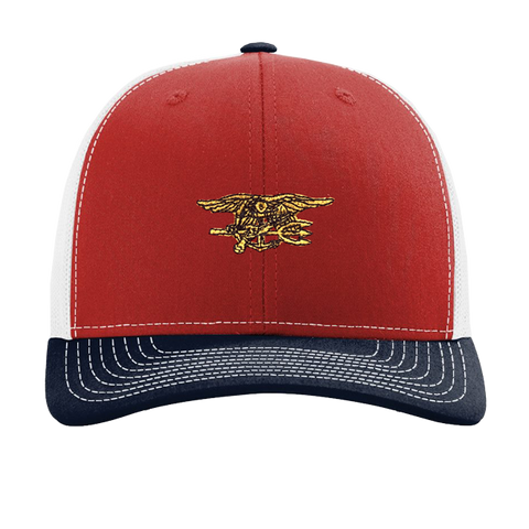 Trident Red White and Blue Trucker Hat