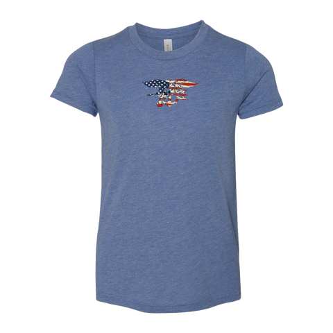 Patriotic Trident Toddler Triblend Tee