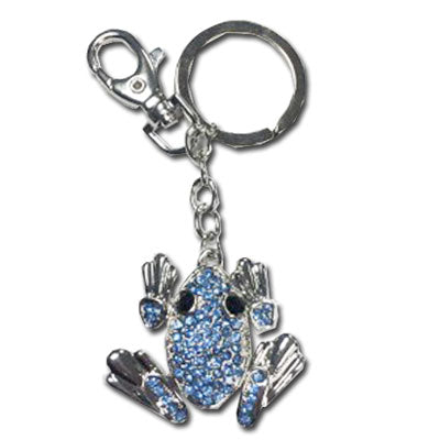 Jeweled Frog Key Ring