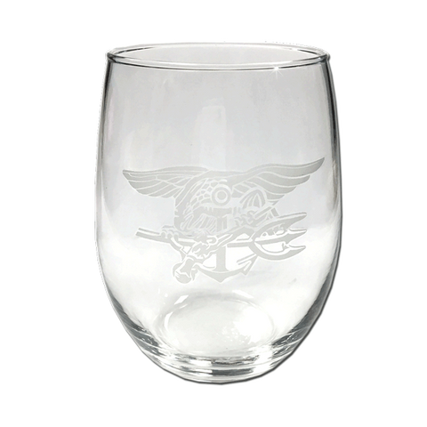 Frosted Trident Stemless Wine Glass - UDT-SEAL Store