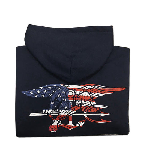 Youth Trident Flag Full Zip Hooded Sweatshirt