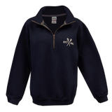 Ladies Trident Navy Blue Quarter-Zip Sweatshirt