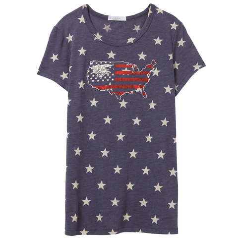 Ladies Stars Tee with Trident USA