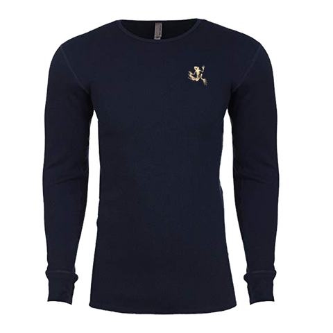 Bone Frog Navy Adult Long Sleeve Thermal