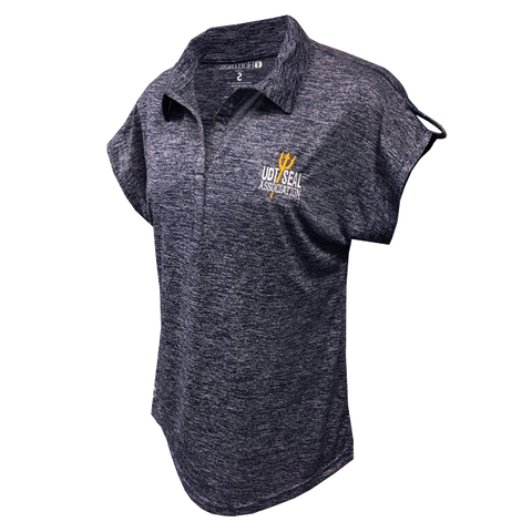 Ladies UDT SEAL Association Heather Navy Polo Shirt