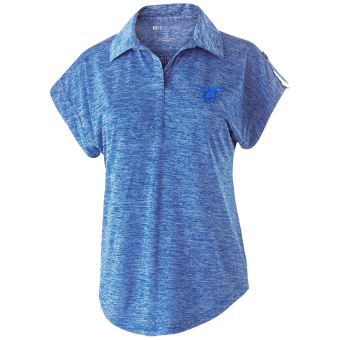 Ladies Trident Heather Royal Polo Shirt