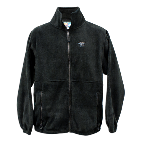 Trident Men's Full Zip Black Fleece Jacket - UDT-SEAL Store