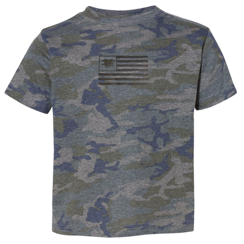 Youth Vintage Camo Tshirt with Trident Flag