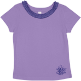 Toddler Girls Ruffle Neck Scroll Trident Tee