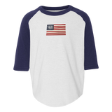 TODDLER American Flag with Trident Baseball Jersey