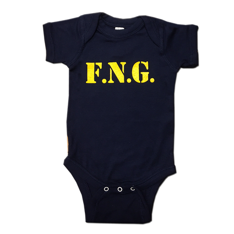 F.N.G. Navy Blue Infant Onesie